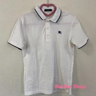 BURBERRY BLACK LABEL - バーバリーブラックレーベル 白ポロシャツ