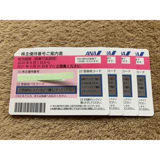 ANA株主優待券 4枚 @¥2,200=8,800