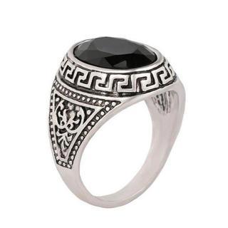 黒オーバル石 ヴィンテージリング(リング(指輪))