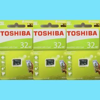 トウシバ(東芝)の3枚 東芝 マイクロSDカード microSDカード   32GB(PC周辺機器)