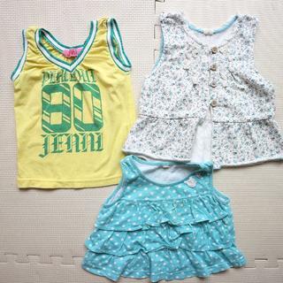 ジェニィ(JENNI)の80cm夏タンクトップ/ノースリーブTシャツ/女の子/半袖 夏 まとめ買い(タンクトップ/キャミソール)