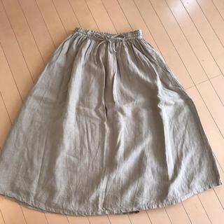 ネストローブ(nest Robe)の美品  ネストローブ    麻100% スカート (ロングスカート)
