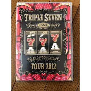 AAA TOUR 2012 -777- TRIPLE SEVEN DVD 2枚組(ミュージック)