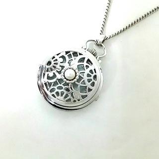 ミキモト(MIKIMOTO)のミキモト ネックレス美品  - シルバー×白(ネックレス)