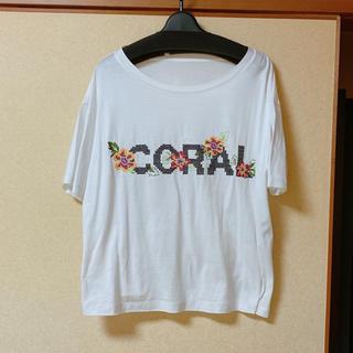 グレースコンチネンタル(GRACE CONTINENTAL)の2020ss GRACE CONTINENTAL クロスステッチロゴトップ(Tシャツ(半袖/袖なし))