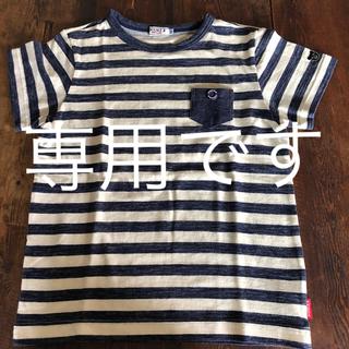 DOUBLE.B - 新品 ミキハウス ダブルB  半袖Tシャツ ボーダー 130