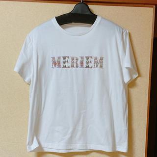 グレースコンチネンタル(GRACE CONTINENTAL)の2020ss GRACE CONTINENTAL ビーズ刺繍ロゴTシャツ(Tシャツ(半袖/袖なし))
