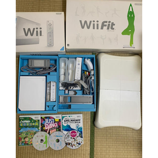 Wii - willセット willFit  バランスボード ソフト まとめて