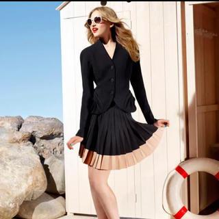 クリスチャンディオール(Christian Dior)のChristian Dior ディオール プリーツスカート FR36(ミニスカート)