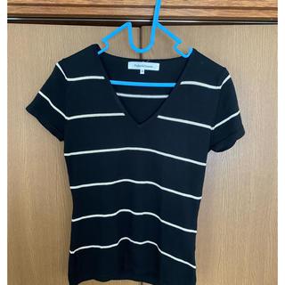 ピンキーアンドダイアン(Pinky&Dianne)のPinky&dianne ボーダー サマーニット(Tシャツ(半袖/袖なし))