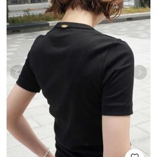 DEUXIEME CLASSE - ドゥーズィエムクラス GIZA ギザ 半袖フライス Tシャツ ブラック