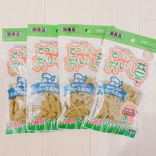 まとめ売り》サンライズニャン太のとってもおいし草カリカリクリスピー 4袋(ペットフード)