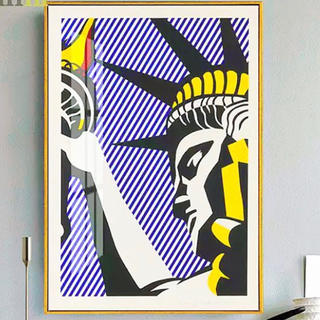 モマ(MOMA)のロイ・リキテンスタイン 自由の女神 キャンバスアート 50×70cm(絵画/タペストリー)