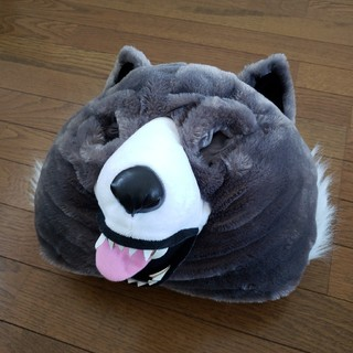 狼のかぶりもの 未使用 着ぐるみ パーティーグッズ 余興 コスプレ(衣装)