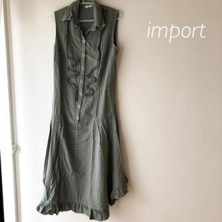 ZARA - import  カーキワンピ