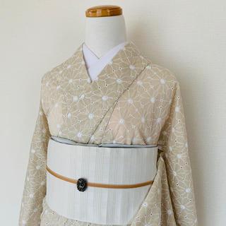 フラワーコットン刺繍の単着物(着物)