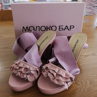 モロコバー(MOROKOBAR)のピンク×パープル Mサイズ(ミュール)