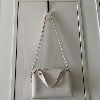 ホワイトカラー☆2WAYショルダーハンドbag(ショルダーバッグ)