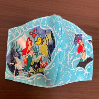 ディズニー(Disney)のアリエル♥インナー立体マスク 幼児~低学年サイズ(外出用品)