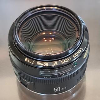 Canon - CANON EF50mm f1.8 フィルタ付 動作未確認