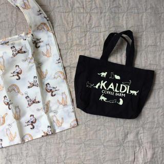 カルディ(KALDI)のねこバッグセット KALDI猫のミニトート + おまけエコバッグ(トートバッグ)