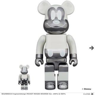 メディコムトイ(MEDICOM TOY)のBE@RBRICK  MICKEYMOUSE Ver. 100% & 400%(その他)
