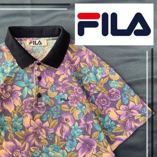 FILA - USA製!!  90's ビンテージ品  FILA  花柄 ポロシャツ  総柄