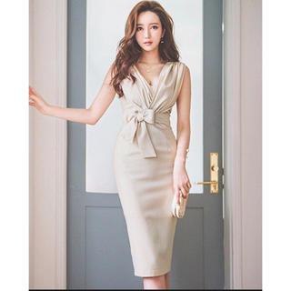 Andy - ドレス ワンピース ベージュ 韓国