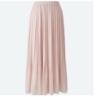 プリーツスカート、ロングスカート、マキシスカート、フレアスカート、L.ピンク