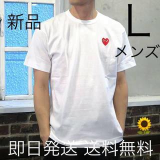 COMME des GARCONS - 入手困難 Lサイズ プレイコムデギャルソン 半袖 Tシャツ ホワイト
