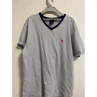POLO RALPH LAUREN - U.S Polo VネックストライプTシャツ