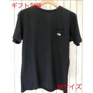 THE NORTH FACE - 【ギフト包装】ノースフェイス ポケットTシャツ ワンポイント刺繍 ブラック色