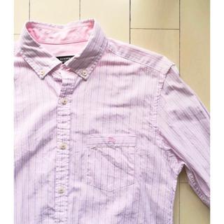バーバリーブラックレーベル(BURBERRY BLACK LABEL)の美品 バーバリーブラックレーベル ホース刺繍 ストライプ ボタンダウン シャツ(シャツ)