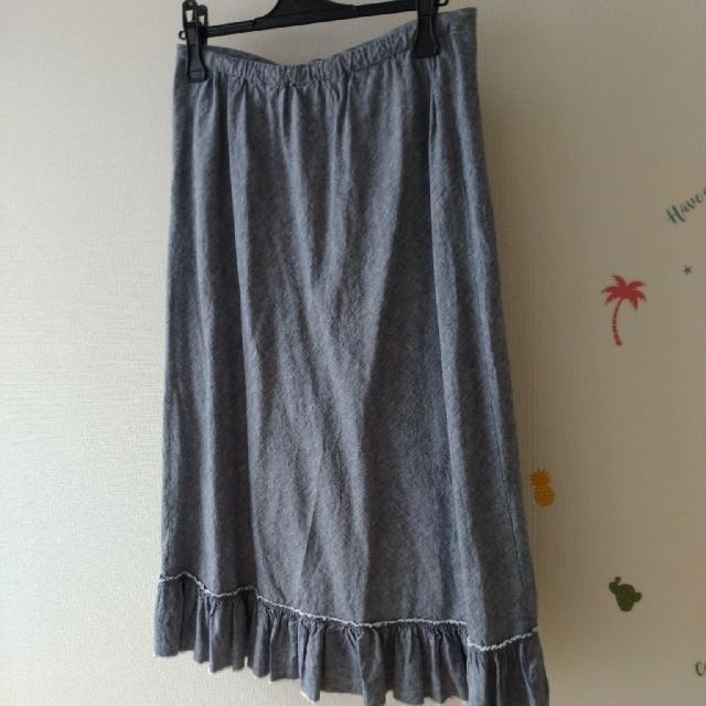UNIQLO(ユニクロ)の【未使用】ユニクロ イネス コットンリネンフリルスカート M レディースのスカート(ロングスカート)の商品写真