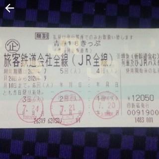 青春18きっぷ  18切符 残り2回分 返却不要 レターパックプラス送料込み(鉄道乗車券)