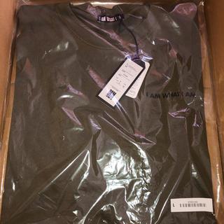 トリプルエー(AAA)のIAMWHATIAM 半袖 Tシャツ L カーキ(Tシャツ/カットソー(半袖/袖なし))