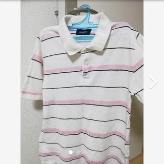 バックナンバー(BACK NUMBER)のポロシャツ メンズ 白 ボーダー柄(ポロシャツ)