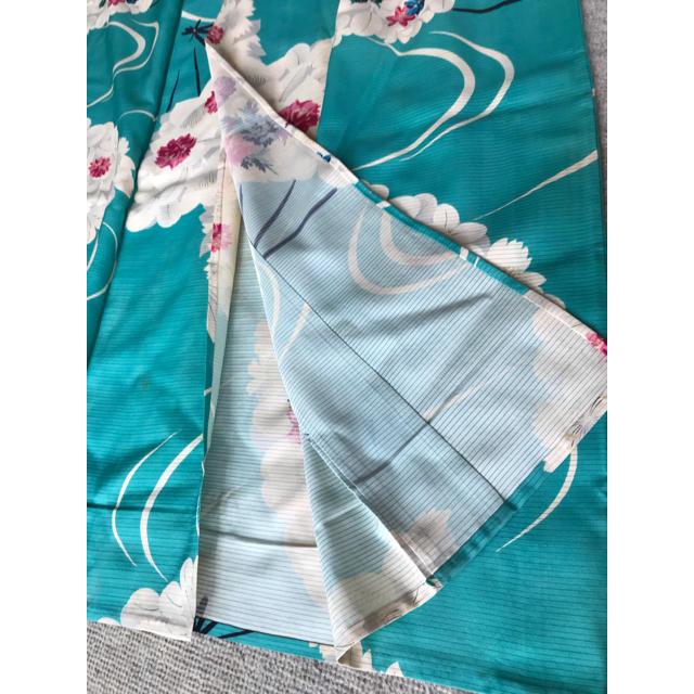 アンティーク♡ 絽 単衣 夏着物 きもの 水色 レディースの水着/浴衣(着物)の商品写真
