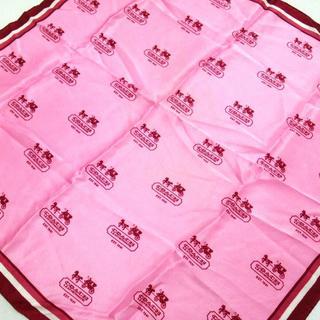 コーチ(COACH)のコーチ スカーフ美品  ピンク×レッド×白(バンダナ/スカーフ)