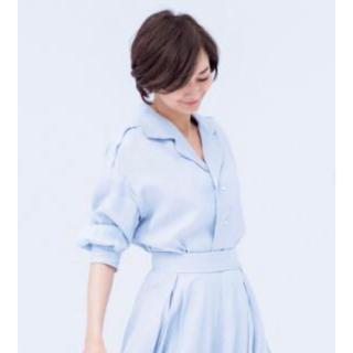 マディソンブルー(MADISONBLUE)のマディソンブルー  オープンカラー リネンシャツ(シャツ/ブラウス(長袖/七分))