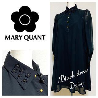 MARY QUANT - MARY QUANT シースルー ブラックドレス ワンピース マリークワント