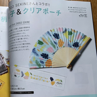 MORE 9月号  付録  扇子 ポーチ センス モア SHOGO SEKINE