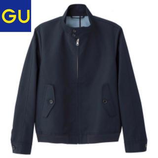 ジーユー(GU)の【新品未使用】GU スイングトップ ネイビー メンズ Sサイズ(ブルゾン)
