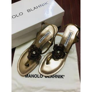 マノロブラニク(MANOLO BLAHNIK)の未使用品 マノロブラニク サンダル 381/2(サンダル)