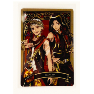 BANDAI - ツイステ  メタルカード スカラビア 1枚