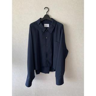 SUNSEA - stein  short length cardigan shirt  ネイビー