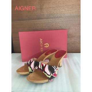 アイグナー(AIGNER)の⭐️リゾート感&高級感たっぷりのサンダル 装いのアクセントに♡(サンダル)