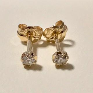 TAKE-UP - TAKE UP K18フィオレットセッティングダイヤモンド セカンドピアス
