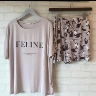 gelato pique - 新品☆ ワンポインロゴTシャツ&キャットモチーフショートパンツ