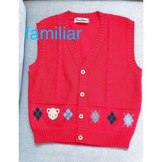 ファミリア(familiar)のfamiliar セーター 赤 110(ニット)